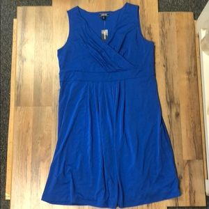 NWT Lands' End Fit N Flare Dress Blue NWT!